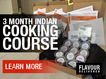 Flavour Delivered - 3 month Indian cooking course - Learn more